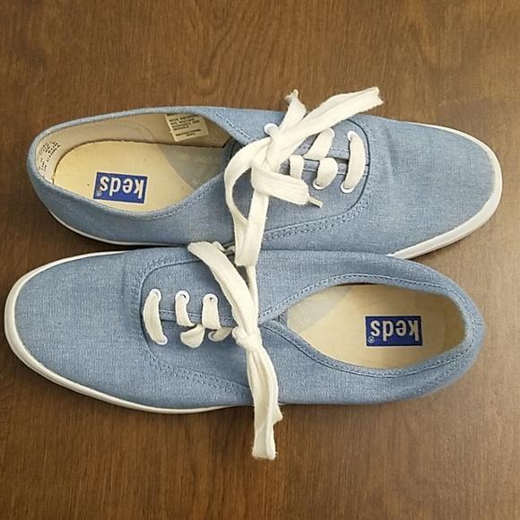 Keds Shoes | Blue Denim Keds | Poshmark